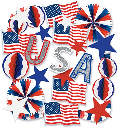 Beistle 55706 Patriotische Dekorationsset 22-teilig
