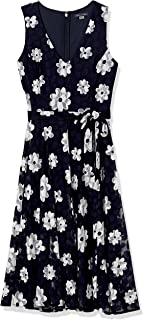 Tommy Hilfiger Women's Lace Fit and Flare Midi