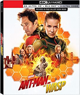 Ant-Man & the Wasp + 40 Page Book (4K/UHD + Blu-ray + Digital)