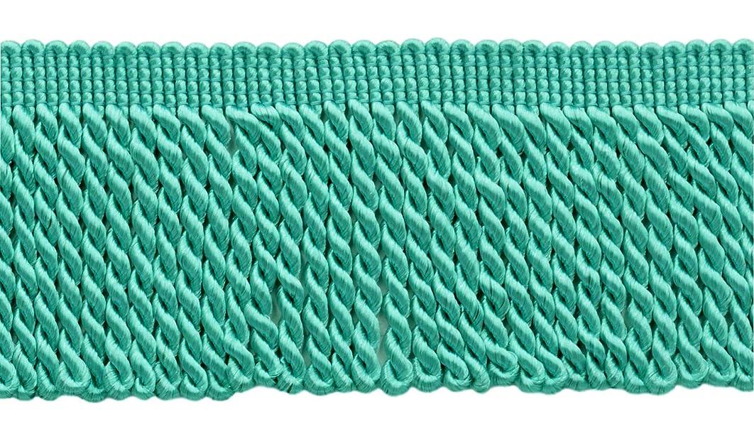 DecoPro 10 Yard Value Pack of 2.5 Inch Aqua Blue Bullion Fringe Trim Style# EF25 Color: 175 (30 Ft / 9.1 Meters)