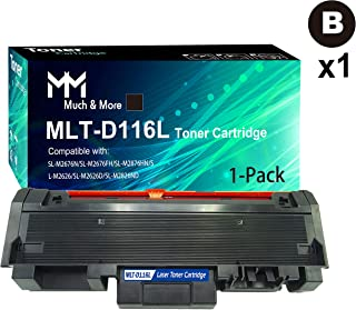 1-Pack Compatible 116L D116L MLT-D116L Toner Cartridge Used for Samsung SL-M2625D M2825DW M2675FN M2875FD Printer, by MuchMore
