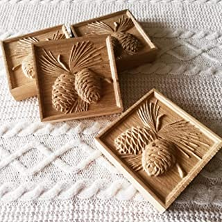 Pine Cone Plinth Blocks/Rosettes