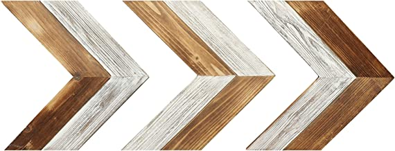 "Barnyard Designs Rustic Farmhouse Wooden Chevron Arrow Wall Decor - Set of 3 Decorative Wood Arrows Sign - Home Decor 13.25"" x 12.5"" (Each Arrow)"