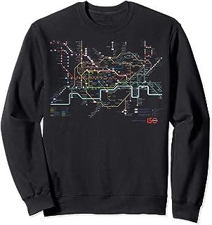 London Tourist Metro British Underground Tube Map T Shirt Sweatshirt