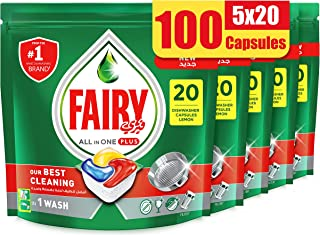 Fairy All in One Plus Dishwasher Detergent Tablets, 5 Tablets