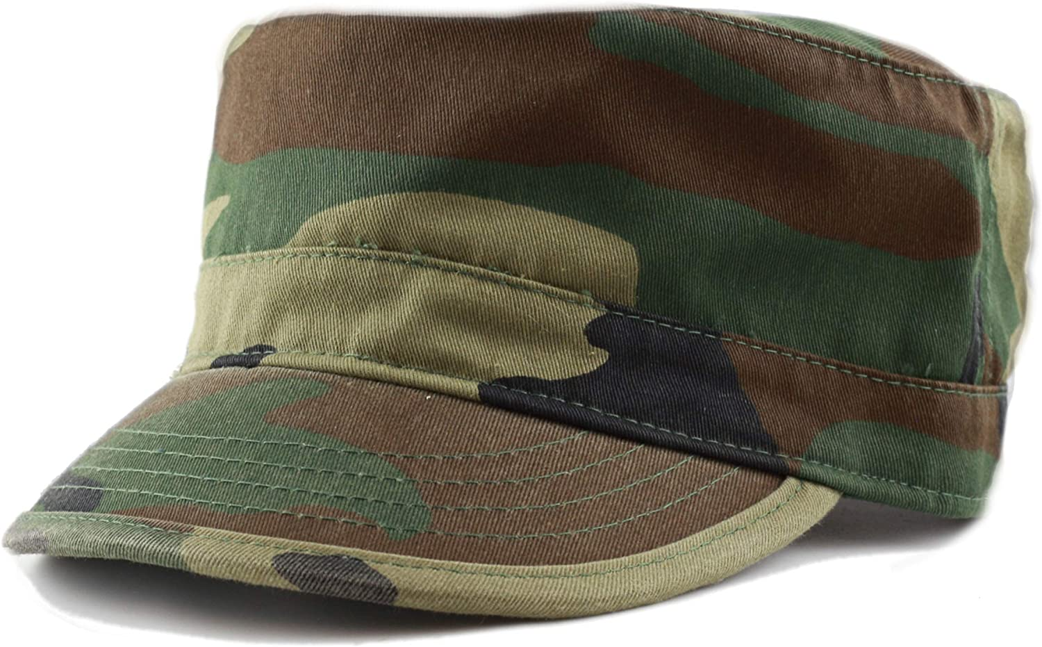85ad27d8 THE HAT DEPOT Cadet Army Washed Cotton Basic Cap Cap Cap Military Style Hat  e7642b