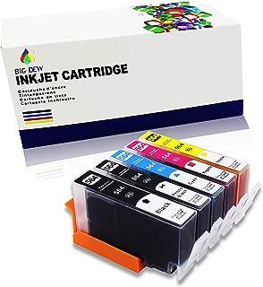 Big Dew Compatible Ink Cartridge Replacement for HP 564XL 564 Ink Cartridges Use in PhotoSmart 7510 7515 7520 7525 B109 B8550 C309 C410 C510 C5300 C6300 D5400 D7500 C310 (5-Pack)