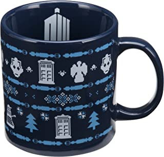 Vandor 16361 Doctor Who Ugly Sweater 20 Ounce Ceramic Mug, Blue