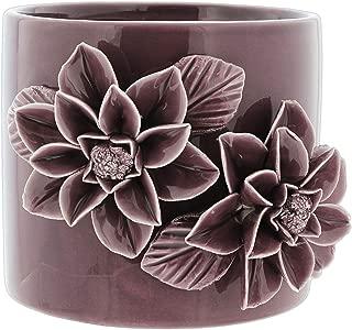 Napco Ceramic Planter with Pop Out Flower Design, 4.5