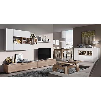 Mobile Sala Da Pranzo In Legno Lublino Parete Attrezzata Soggiorno Salotto Bianco Rovere 190 X 265 X 41 Cm Parete Attrezzata Mobile Tv Design Moderno Escuelasoulsurf Cl