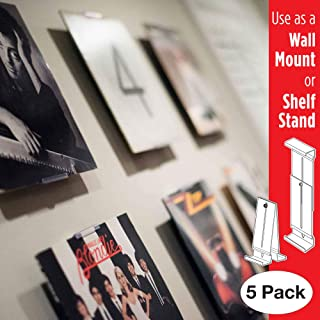 Album Mount Vinyl Record Frame, Wall Mount and Shelf Stand, Invisible and Adjustable, 5 Pack