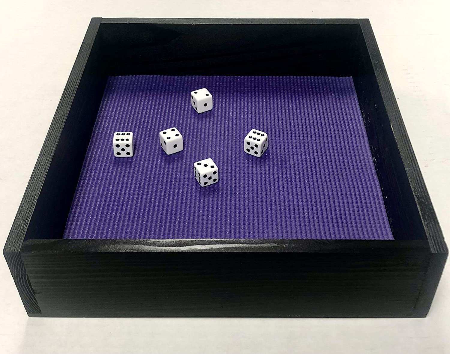 Yahtzee Farkle Challenge the lowest price of Japan ☆ Sales for sale Large Wood Table Top Game Box Tra Holder Dice
