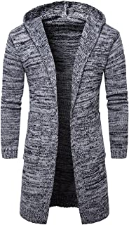 98f2bf607233 Pinkpum Cardigan Abrigo Manga Larga Casual Suéteres para Hombres Cuello de  Solapa Jersey de Punto