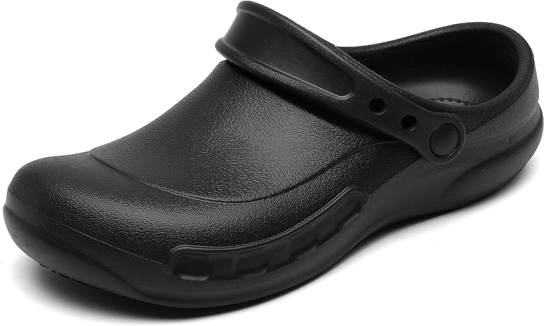 JSWEI Chef Shoes Clogs Men Non Waterproof Columbus Mall Oil Kit Slip Resistant Overseas parallel import regular item