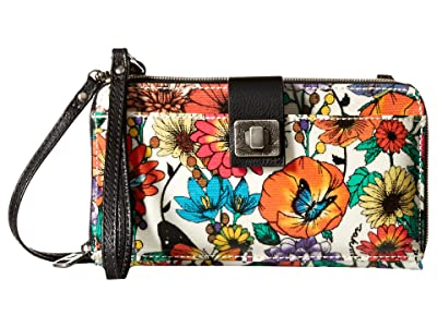 Sakroots Artist Circle Large Smartphone Crossbody (Optic in Bloom) Clutch Handbags