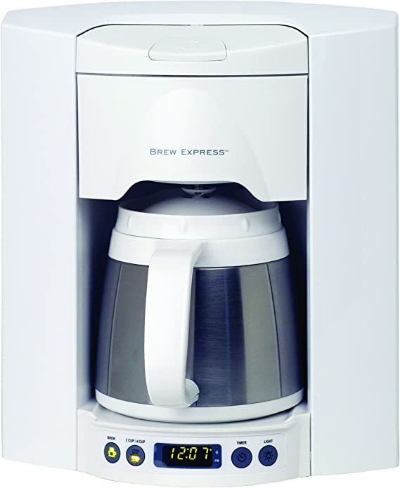 Brew Express BE-104R-223A 4-Cup Built-in Coffee System, White