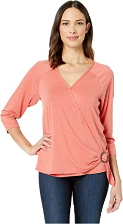 Zuri Short Sleeve Wrap Top