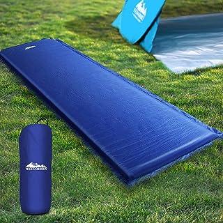 Inflatable Sleeping Pad Weisshorn Lightweight Camp Sleeping Mat Air Bed 6CM-Thick Rollable Mattress for Camping Tent Carav...