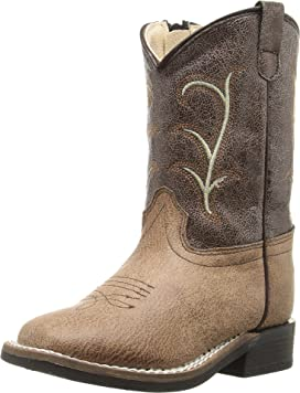 4bbb3813c9c Old West Kids Boots Broad Square Toe (Toddler)   Zappos.com