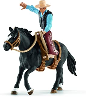 Schleich North America Saddle Bronc Riding with Cowboy Playset