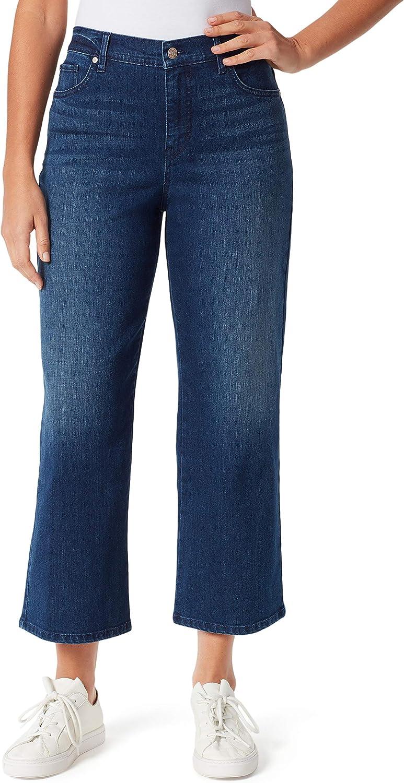 Gloria Vanderbilt Max 44% OFF Women's Amanda Recommendation Wide Crop Jean Leg Length