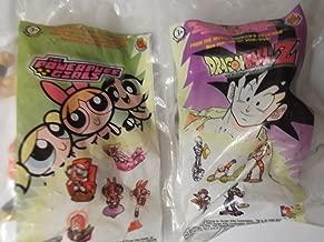 Burger King 2002 Dragonball Z Super Saiyan Goku and Powerpuff Girls Bright Brain Mojo Jojo Toy