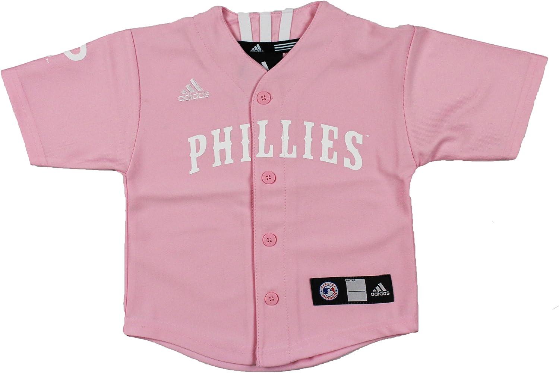 Amazon.com : adidas MLB Philadelphia Phillies Girls Pink Jersey ...