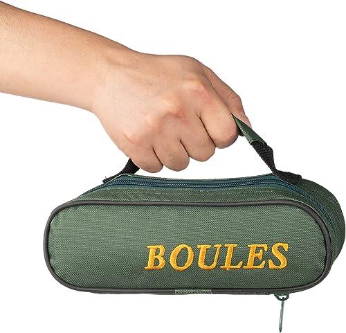 Tofern 2 Sacoche Trousse Jeu de Boules Nylon Oxford Robuste Pratique Sac à Main Pétanque sans Boules Adaptation 3/6 /...