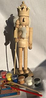 max stitch design Paint Your Own Nutcrackers, Handmade 25cm Tall Unpainted assemblyed Nutcrackers