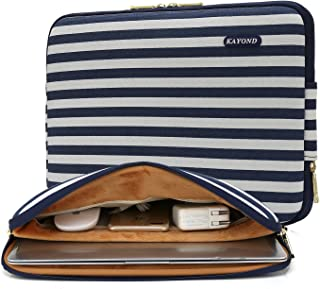 KAYOND 17 Inch Laptop Sleeve-Canvas Water-Resistant Notebook Case Bag(17 inches, Breton Stripe)
