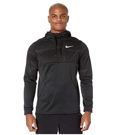 Nike Therma Fleece Pullover All Over Print 1 (Black/White) Men