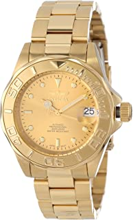 "Invicta Men's 13929""Pro-Diver"" 18k Gold Ion-Plated Automatic Watch"