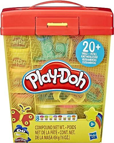 Play-Doh – Super Boite à Accessoires et 5 Pots de Pate à Modeler de 56g chacun