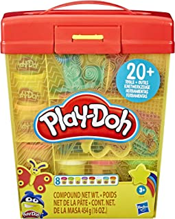 Play-Doh E90995L0 Large Tools and Storage Activity Set for Kids 3 Years and Up with 8 Non-Toxic Colors and 20-Plus Tools