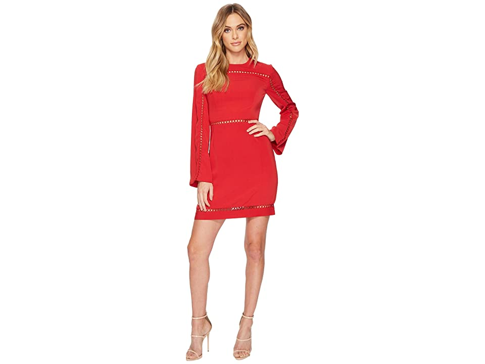 KEEPSAKE THE LABEL Indulge Long Sleeve Mini Dress (Red) Women