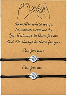 SX Commerce Pinky Promise Distance Matching Bracelets Anklet for Mother Daughter Best Friends Him and Her