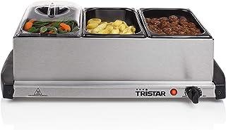 Chauffe-plat Tristar BP-2979 – Capacité : 3 x 1,5 l – Avec fonction de maintien de la température