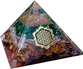 Occhio di tigre Selenite Malachite Combinata Orgone Piramide Meditazione Piramide di orgonite Piramide di cristallo natura...