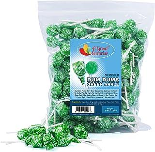 Dum Dum Lollipops – Green Candy – Green Dum Dums – Green Apple Candy – 2 Pounds