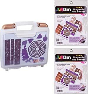 ArtBin Bundle includes ArtBin Magnetic Die Storage Case, 6978AB with 2 additional Magnetic Die Sheets 3 Pack, 6979AB
