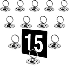 New Star Foodservice 23398 Ring-Clip Table Number Holder/ Number Stand/ Place Card Holder, Set of 12, 1.5-Inch
