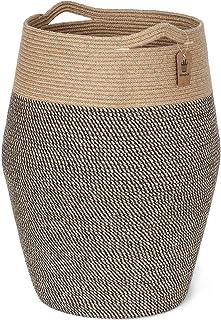 LIUJIANPING Laundry Basket, Panier à Linge Haut en Corde de Jute tissée pour vêtements Sales et Sales, Grand Panier Modern...