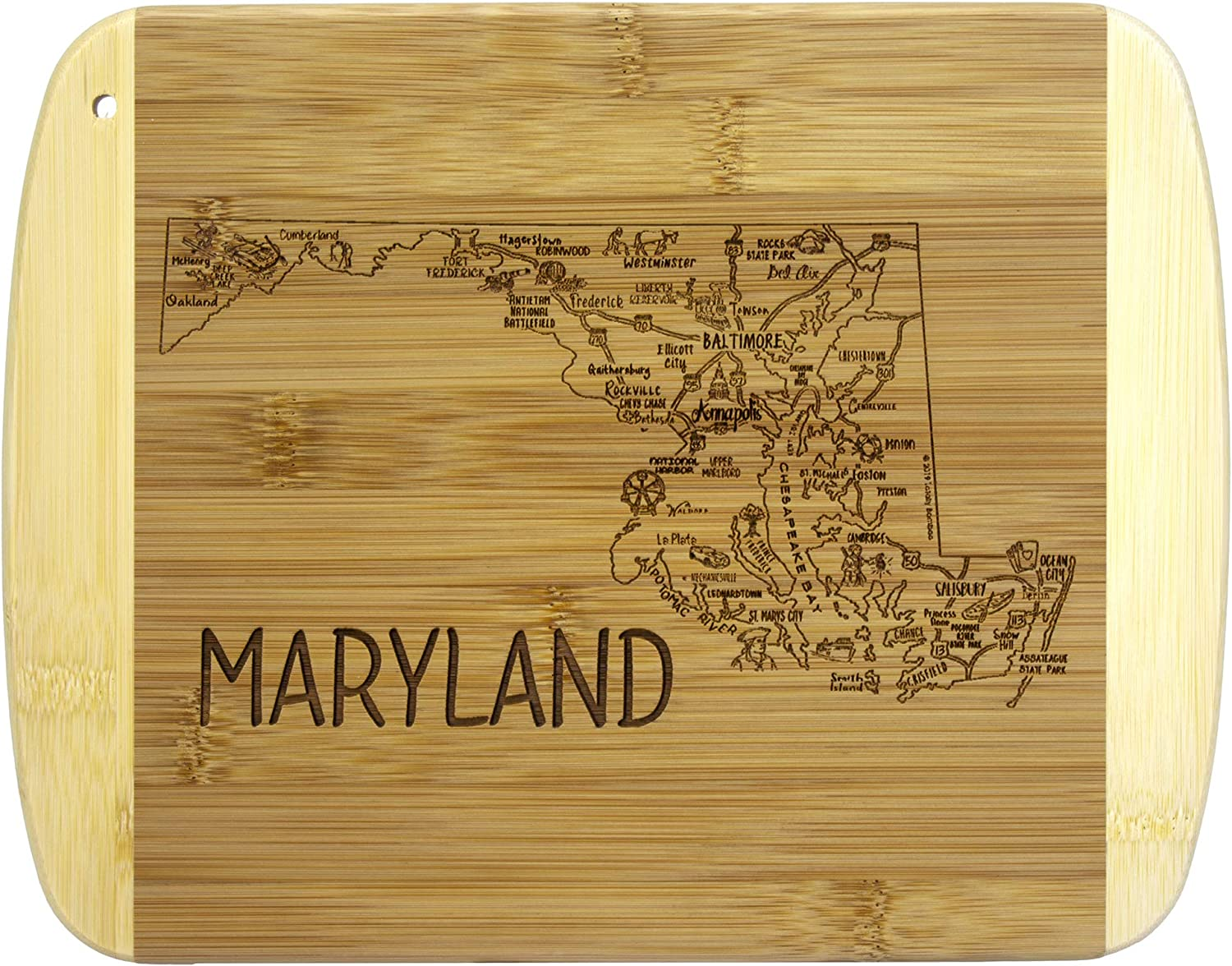Totally Bamboo A Slice of Life Maryland Bamboo Serving and Cutting Board