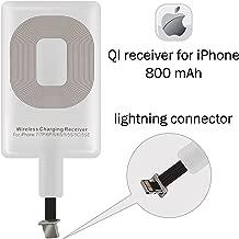 Y tech QI Receiver Compatible iPhone 5-5c- SE- 6-6 Plus- 7-7 Plus Charging Receiver
