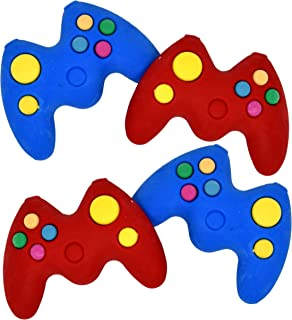 Gift Boutique Game Controller Erasers 36 Pack Blue and Red 3D Remote Control Game Handle Shaped Eraser for Kids Video Gaming Birthday Party Supplies Favors Decorations