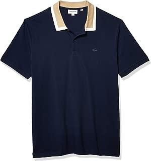 Men's Short Sleeve Slim Fit Semi Fancy Collar Pique Polo...