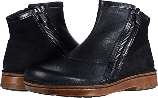 Black Leather Combination/Black Nubuck
