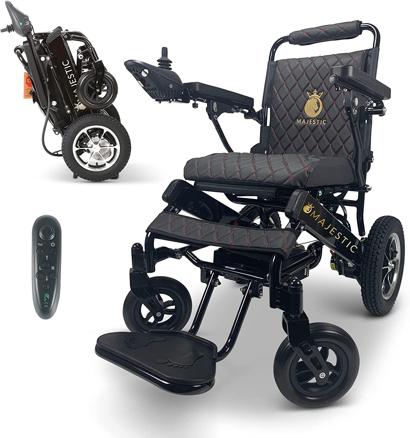 2020 Limited Outlet ☆ Free San Antonio Mall Shipping Edition Remote Foldable Electric Control Wheelchair