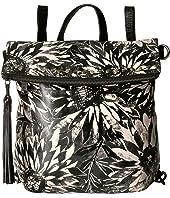 Sunflower Print Luzille Backpack