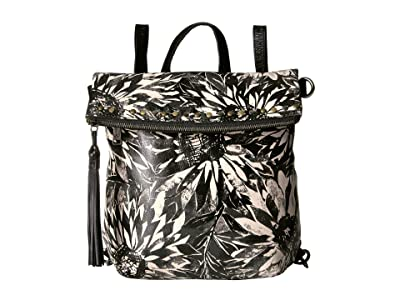 Patricia Nash Sunflower Print Luzille Backpack (Sunflower/Black/White) Backpack Bags
